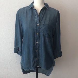 Anthro | Cloth & Stone Chambray Shirt